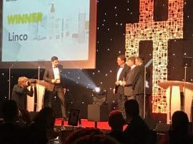 Linco Care accepting the Insider North West Export Award